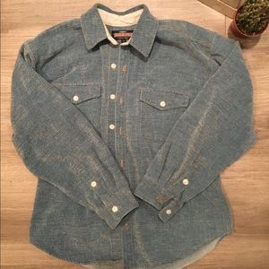 True Grit | Faux Denim Button Up